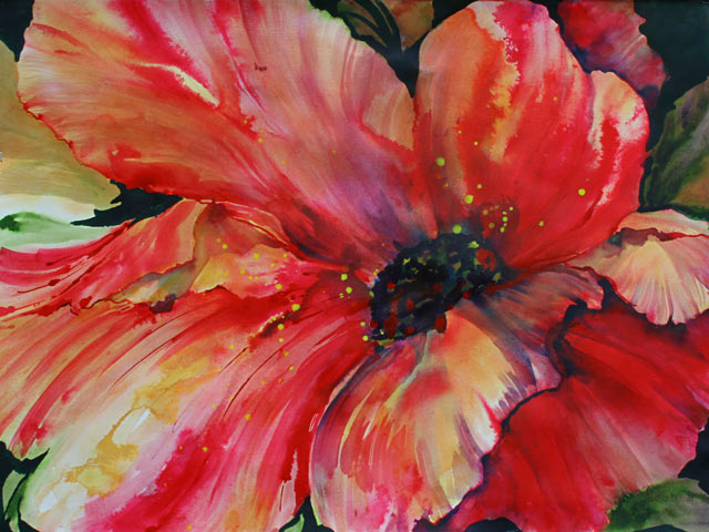 Hot Poppy - Canvas Art Print