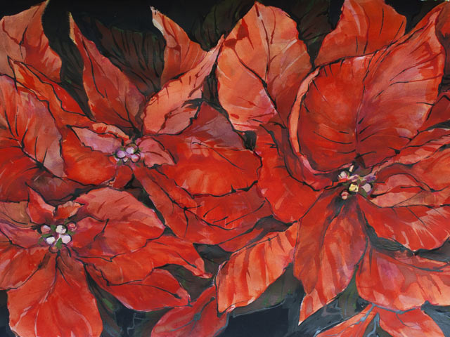 Poinsettia Riot - Canvas Art Print